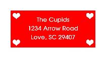 Valentine Mini Hearts Caribbean Design Address Labels