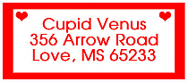 Valentine Mini Hearts Design Address Labels