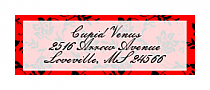 Valentine Floral Address labels