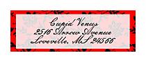 Valentine Floral Address labels