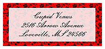Valentine Floral d-Address Labels