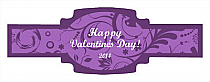 Valentine Serenity Buckle Cigar Band Labels