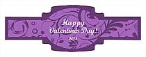 Valentine Serenity Buckle Cigar Band Labels
