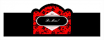 Valentine Floral Cigarband Billboard 3.27x1.16