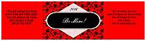 Valentine Floral Water Bottle Labels