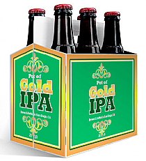 6 Pack Carrier Pot Of Gold plain 6 pack carrier and custom pre-cut labels