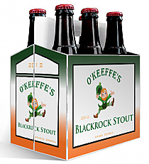 6 Pack Carrier Blackrock Stout plain 6 pack carrier and custom pre-cut labels