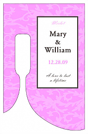 Magnolia Small Bottoms Up Rectangle Wine Wedding Label  2.25x3.5