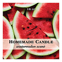 Enjoyable Big Square Candle Labels
