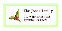 "Sprig Mistletoe Christmas Address Labels 2"" x .875"""