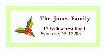"Sprig Mistletoe Christmas Address Labels 2"" x .875"""