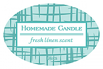 Fresh Linen Candle Label Oval