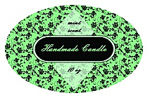 Floral Candle Label Oval