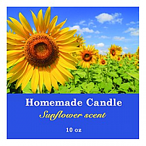 Photo with Text Big Square Candle Labels