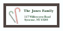"Custom Candycane Christmas Address Labels 2"" x .875"""