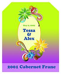 Rainbow Vertical Big Rectangle Wedding Labels