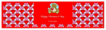 Hearts Galore Valentine Water bottle Labels 7x1.875
