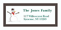 "Funny Snowman Christmas Address Labels 2"" x .875"""