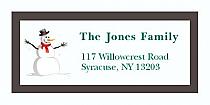 "Funny Snowman Christmas Address Labels 2"" x .875"""