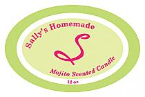 Mojito Candle Label Oval