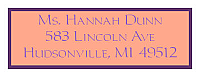 Monarch Address Bridal Shower Labels