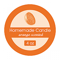 Orange Zest Small Circle Candle Labels