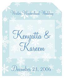 Winter Wonderland Wine Wedding Labels