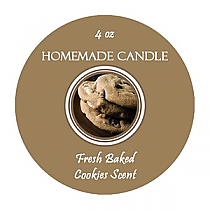 Fresh Baked Small Circle Candle Labels