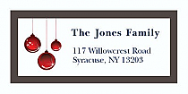 "Brown Ornament Christmas Address Labels 2"" x .875"""