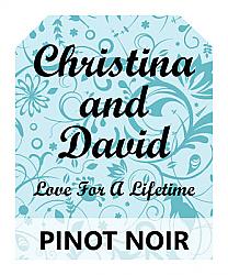 Serenity Wine Wedding Label