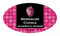 Black Label Candle Label Small Oval