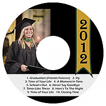 Best Wishes CD DVD Graduation Labels
