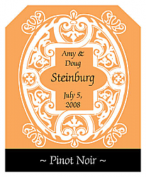 Mannerism Wine Wedding Label
