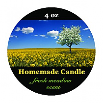 Fresh Meadow Small Circle Candle Labels