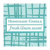 Fresh Linen Small Square Candle Labels