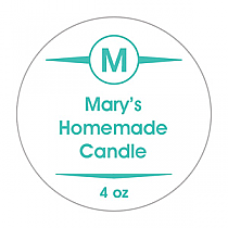 Basic Small Circle Candle Labels