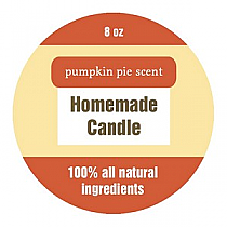 Original Country Circle Candle Labels