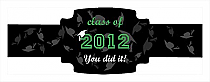 Hats Off Graduation Buckle Cigar Band Labels
