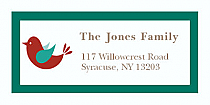 "Red Bird Christmas Address Labels 2"" x .875"""