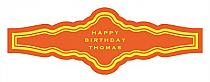 Simple Border Birthday Fancy Cigar Band Labels