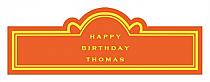 Simple Border Birthday Billboard Cigar Band Labels