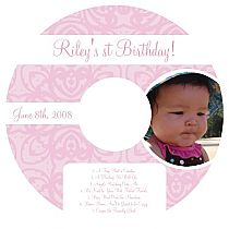 CD Baby Powder Pink Labels 4.625x4.625