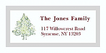 """Abstract Christmas Tree Address Labels 2"""" x .875"""""""