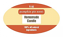 Original Country Candle Label Small Oval