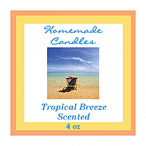 Tropical Breeze Small Square Candle Labels