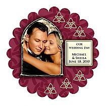 Celtic Scalloped Circle Wedding Labels 1.75x1.75