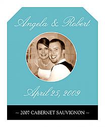 Memorable Wine Wedding Label