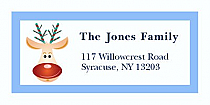 "Funny Reindeer Christmas Address Labels 2"" x .875"""