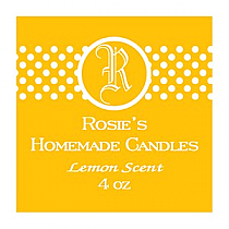 Regal Small Square Candle Labels