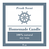 Anchor Square Candle Labels